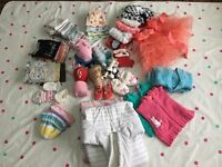 0 to 9 months baby girl clothes bundle