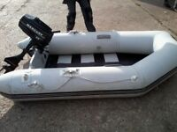 2.2HP MERCURY 2-STROKE OUTBOARD & 2.3M INFLATABLE SEAPRO RIB / C/W: PUMP / SPORTS PADDLE / COST 700