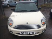 MINI COOPER 1.6 HATCH 58 PLATE 65,000 MILES SPARES OR REPAIR