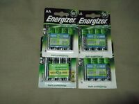 unopened sealed not used,4 packs of energizer accu rechargeable batteries,they last twice as long