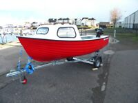 JURA BOAT PACKAGE - 5HP TOHATSU OUTBOARD AND TRAILER UK WIDE DELIVERY