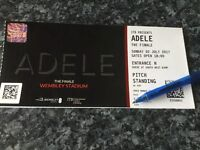 2 tickets for Adele Sunday 2nd July , World Tour Finale , General Admission so on Pitch Sunday
