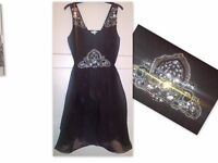 Black sheer double layer dress
