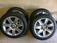 "BMW Style 44 Alloy Wheels 17"" Dunlop Winter Sport 4D Tyres 5x120"