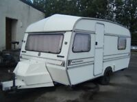 1990 2 BERTH ABI GLOBETROTTER CARAVAN GOOD EXAMPLE FOR YEAR NO TIMEWASTERS