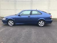 2001 Saab 9-3 se turbo rare 3 door 1 owner fsh 80k vgc