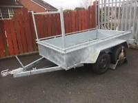 Trailer twin axle trailer 8x4 double axle builders trailer