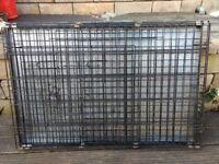 Large dog cage, folds flat
