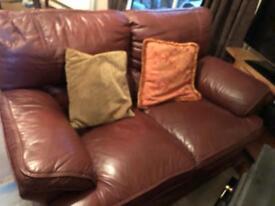 Leather 3 piece sofa