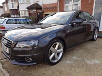 AUDI A4 1.8 TFSI S LINE (2011) SALOON 4DR PETROL MULTITRONIC + LOTS OF OPTIONAL EXTRAS + FDSH