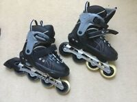 Children's Adjustable Roller Blades/Inline Skates, very good condition