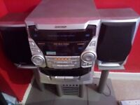 Sharp Stereo system with stand