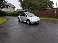 Volkswagen Beetle 1.4, 2004 Silver Metallic, 70000 Miles Full Service History, 1 Lady Owner from new
