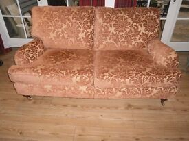 Multiyork 3 Seater Settee Sofa in Excellent Condition Rust/Gold pattern