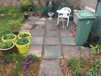 2' x 2' grey/green paving slabs