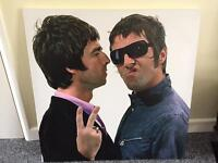 Oasis - Gallagher Brothers - Canvas Print £10