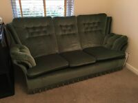 Sofa and 2 matching Armchairs