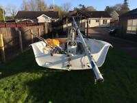 Lazor Stratos sail boat fully rigged