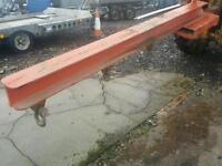 Heavy duty forklift jib with shackles fitted 8.5 ft long