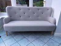 Habitat grey sofa and arm chairs