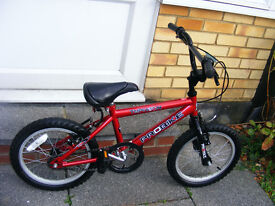 "BOYS 16"" WHEEL BIKE IN GREAT WORKING ORDER AGE 4-7"