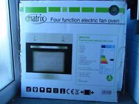 Brand new electric fan oven, not used