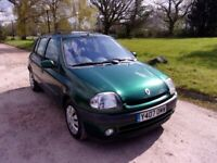 2001 RENAULT CLIO 1.4 AUTOMATIC,ONLY 51,000 MILES,MOT SEPT 2021