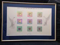 framed Canada Millenium stamps