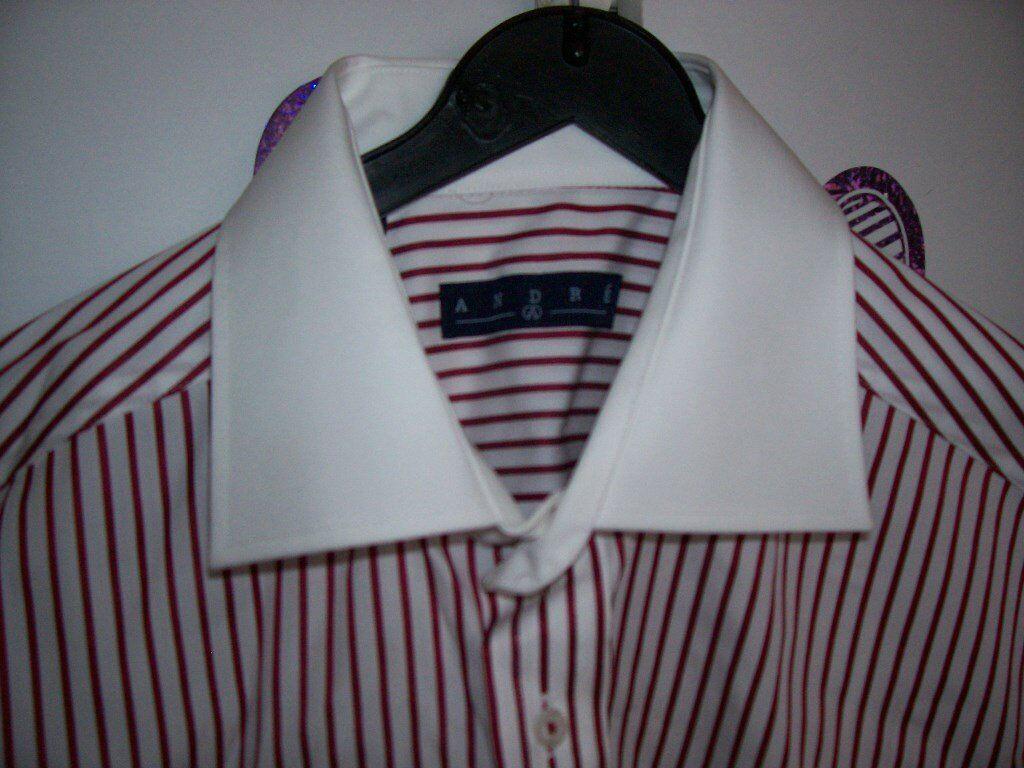 Mans - RED WHITE STRIPED SHIRT