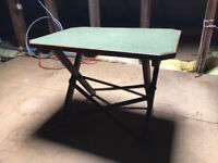 Small Green Felt Covered Table (Collapsible)