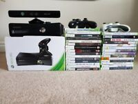 Xbox Black 360 with Kinect and 30 Games
