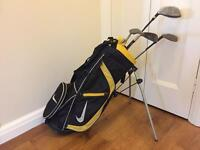 Kids Nike Golf bag and clubs age 7-9 approx