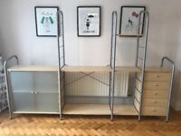 Storage Furniture - Excellent condition, multiple stacking variations.