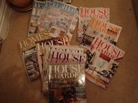 House & Garden, Ideal Homes and other assorted home magazines