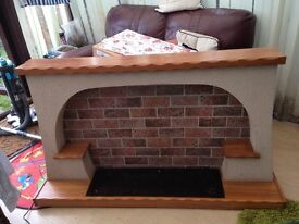 Freestanding electric fire surround