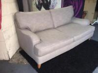 Next Othello 3 Seater Sofa in Texture Weave Grey Fabric