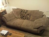 2 x 3 Settee Sofa in Brown. Free Free to collect asap