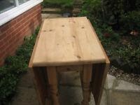 Good quaility, stripped pine gate leg table.