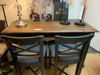 darkwood hightable and stools