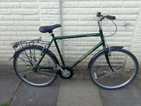 mens ammaco hybrid single speed bike with new d-lock ready to ride can deliver