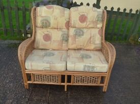 2 Seat Conservatory Sofa Cane Frame Delivery Available