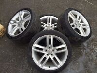 """AUDI A1 S1 17"""" GENUINE ALLOYS WITH TYRES 2013 MODEL S LINE SPORT"""