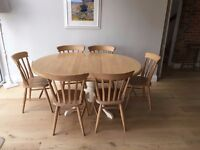 Extendable Pine Table & Chairs