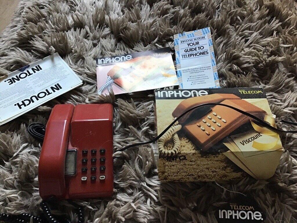 a72d644cc 1980 s bt red phone in original box