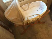 Mama and papas Moses basket with stand