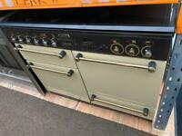 Black & cream range master 110cm gas cooker grill & double ovens good condition with guarantee