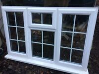 Double Glazed uVPC window with internal Georgian bars