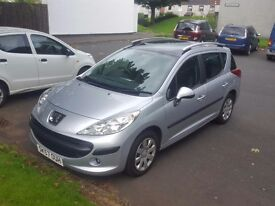 2007 peugeot 207 sw hdi with full service history