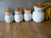 Kitchen Storage jars by London Pottery - New with labels