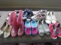 Large bundle of girls shoes - infant size 9 to 12